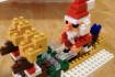 我が家のサンタさん。今年もナノブロックを組み立てました